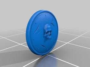 Worn skull shield