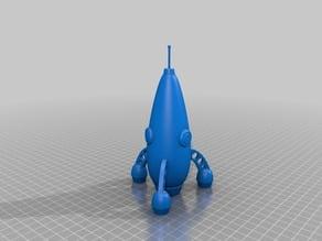 Retro toy rocket