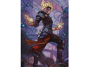 Chandra, Fire Artisan - stained glass - litho