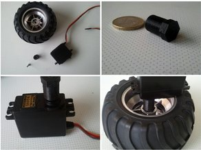 RC servo to 1/10 wheel adapter