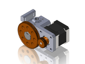 Cyborg Geared Bowden Extruder - With Herringbone Gears and Simplified Hardware
