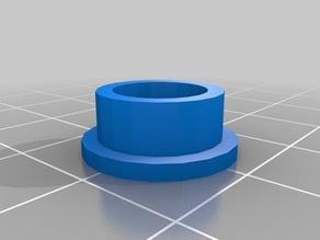 Bi-fold closet pivot cap