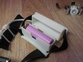 1x 18650 battery holder for headlamp