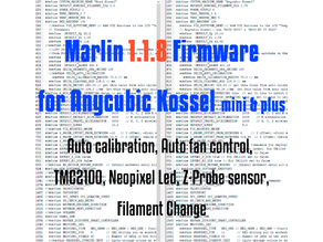 Marlin 1.1.8 firmware for Anycubic Kossel(mini & plus), delta calibration circle