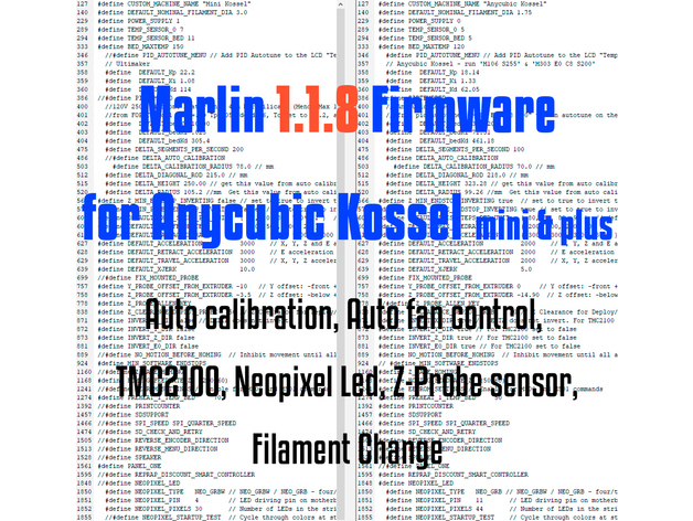 Marlin 1 1 8 firmware for Anycubic Kossel(mini & plus
