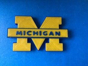 University of Michigan Block M Magnet