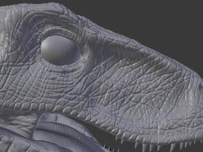 Jurassic Park Velociraptor Head