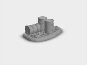 Warhammer 30k / 40K - Terrain - Barrels