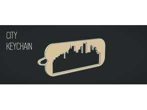 Keychain with city silhouette