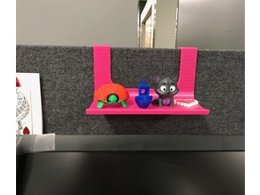"Shelf for 1"" cubicle wall"