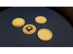 Thicker walls Coat Buttons for adafruit NeoPixels