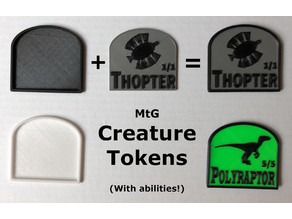 MtG Creature Tokens with abilities (2 parts)