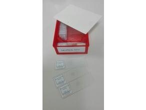 stackable case for 20 microscope slides, boite pour 20 préparations microscopiques et case for 12+12