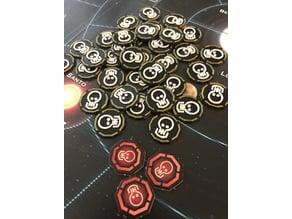 Firefly The Game - Reaver Alert tokens