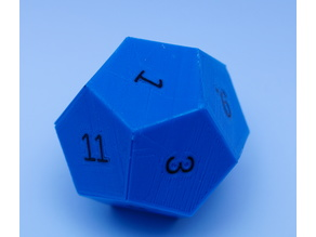 Customizable Dodecahedron Dice