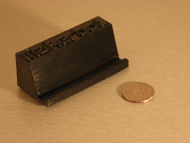 Makerbot Business Card Holder