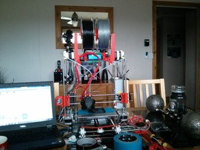 Prusa i3, dual bowden stepper mounts - updated