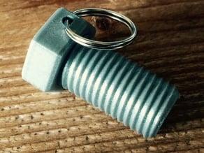 Bolt Keychain (Secret pillbox)