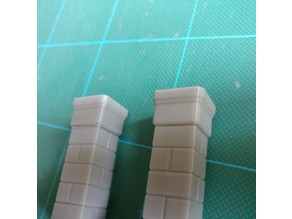 Stone Pillars for Gloomhaven (top overhang fix)