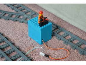 Lego Train Switch Servo Mount
