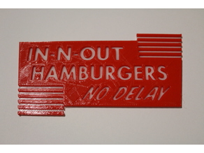 In-N-Out No Delay Sticker