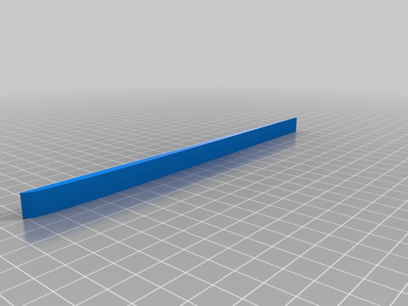 Clark-Y airfoil template for hot wire foam cutting by