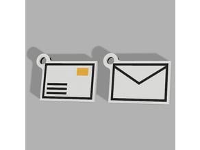 Multicolor mailbox keyring