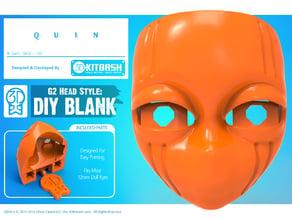 Quin G2 Head Style: DIY Blank Face - 3DKitbash.com