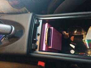 QI charging mobile compartment for Samsung Galaxy S4 & Mercedes SLK