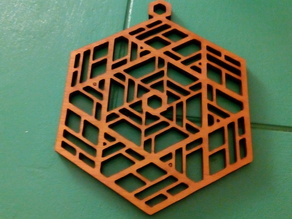 Stained Glass Inspired Ornament (laser cutter version)