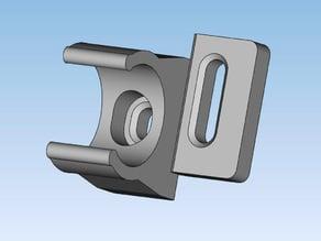 Sliding electrical tube anchor clip