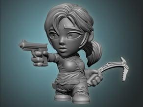 Lara Croft Toon Figurine