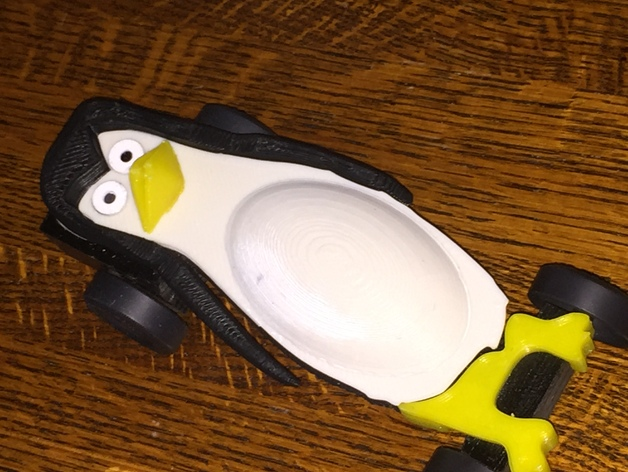 pinewood derby car penguin design by tnever