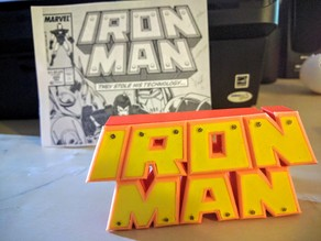 Iron Man Comics Logo