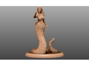 Yuan-Ti (snake hair) Tabletop Miniature