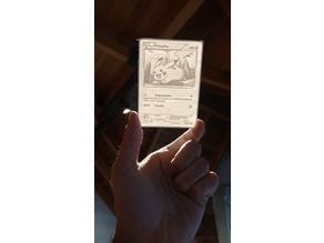 Pokemon card Lithophane (Pikachu)