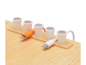 USB cable holder of coffee type
