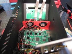 CR10 S4 Internal 50mm fan to 2x 40mm fan mount