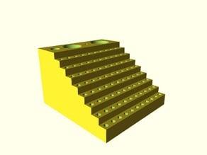 Parametric precision screwdriver hexbits box