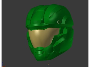 Halo Air Assault Helmet - Split up for 8x7x6 Print Bed