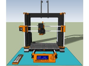 Prusa i3 MK2S SketchUp Dynamic Model (automatic bed/hotend position)