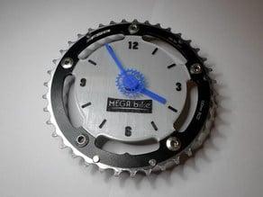 Fahrrad Kettenblatt Wanduhr / Bicycle Chainring Clock