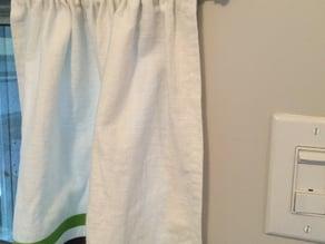 Camper Curtain Rod Finials & Union
