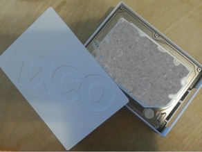 Portable Hard Drive Case with Snap Lid