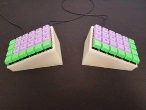 The Wedge - Let's Split tented keyboard case