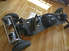 Electric Mountainboard with 3D printed motor mounts,enclosures and pulleys