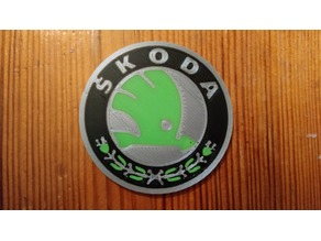 Skoda flat logo for multi material