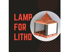 Lamp for lithophane (photography)