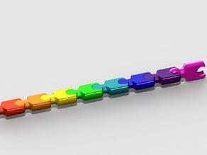 """modular (key)chain - remix of:carlok's """"Modular """"snake"""" keychain"""""""
