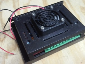 TB6600/HY-DIV268N-5A Stepper Driver Case with 40mm Fan